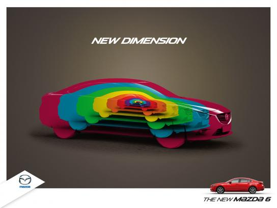 Mazda Print Ad -  New Dimension