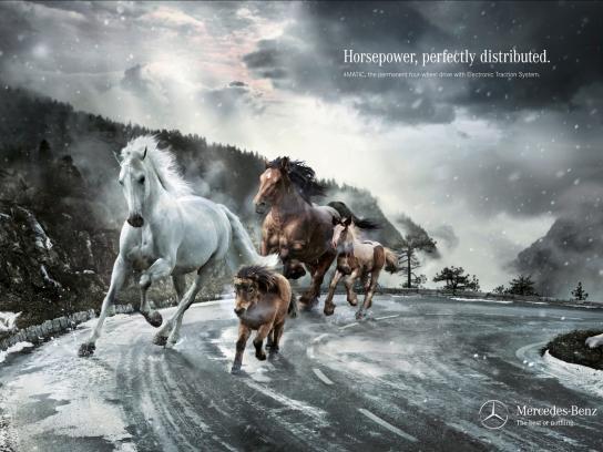 Mercedes Print Ad -  Horsepower