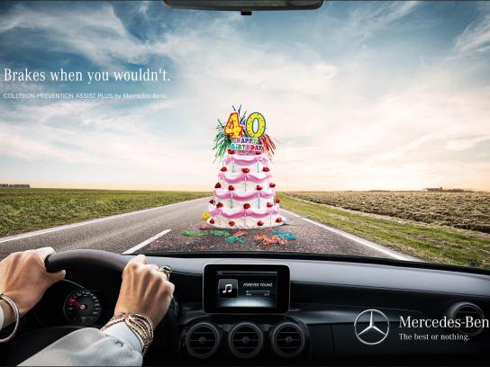 Mercedes Print Ad -  Cake