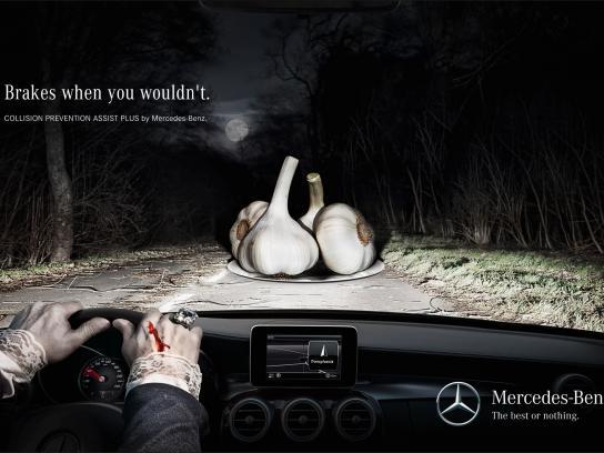 Mercedes Print Ad -  Garlic