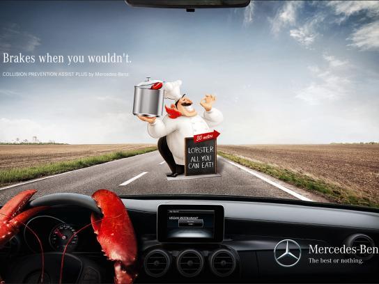 Mercedes Print Ad -  Lobster