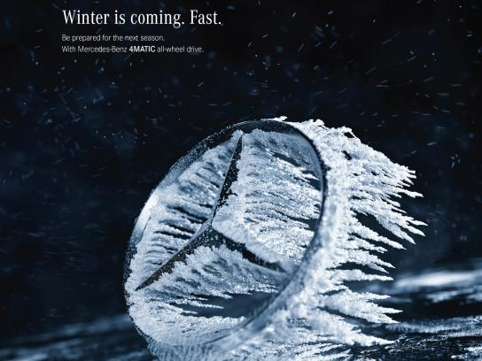 Mercedes Print Ad - 4MATIC Winter