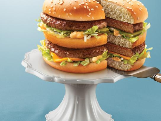 McDonald's Print Ad -  Big Mac Slice