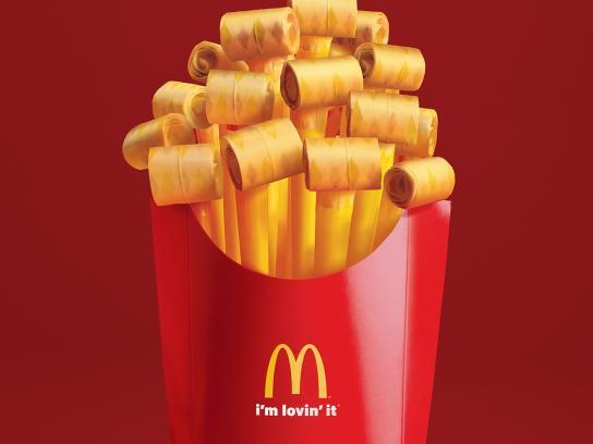 McDonald's Print Ad -  Party fries