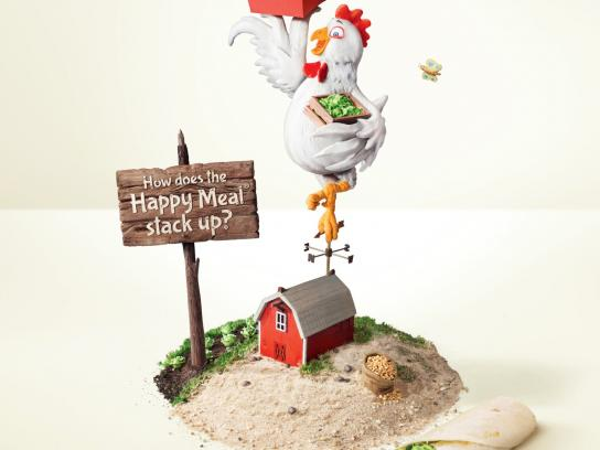 McDonald's Print Ad -  Happy Meal Grilled Chicken Snack Wrap