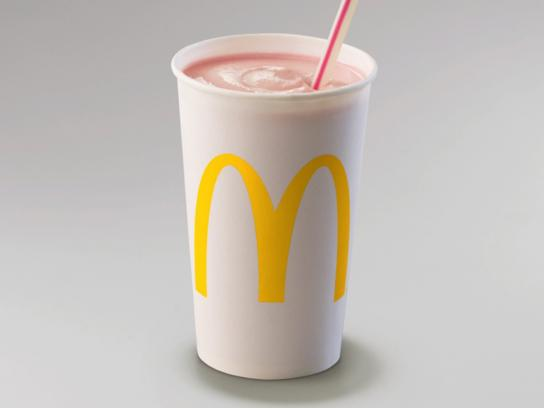 McDonald's Outdoor Ad - Strawberry Milkshake
