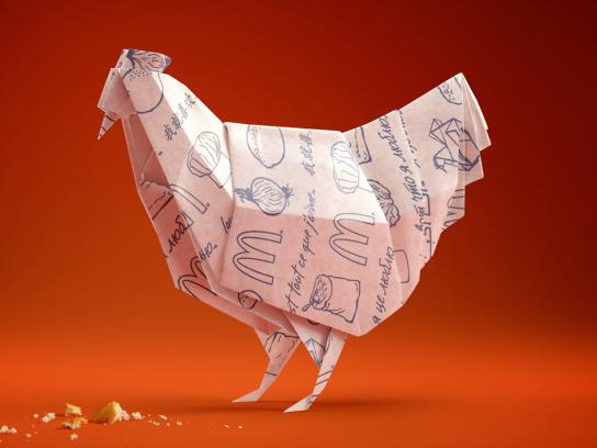 McDonald's Print Ad -  Chicken burger