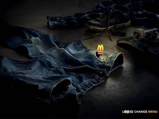 McDonald's Print Ad -  Loose Change Menu
