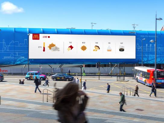 McDonald's Outdoor Ad - Weather-Reactive Outdoor