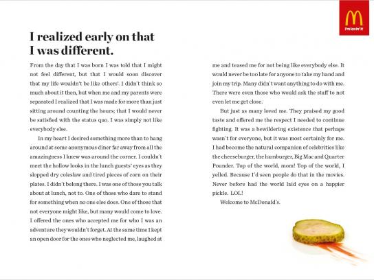 McDonald's Print Ad -  Pickle
