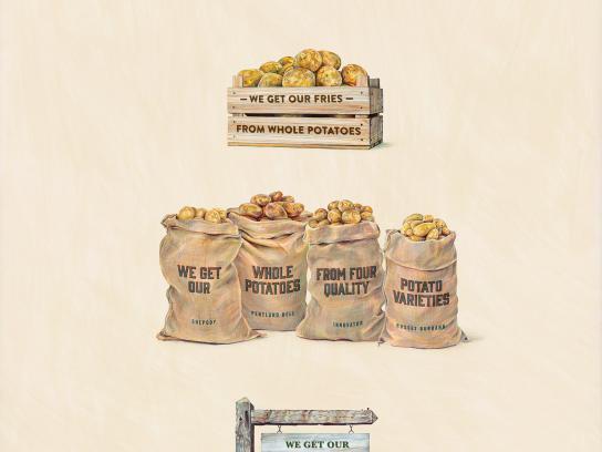 McDonald's Print Ad -  Potato