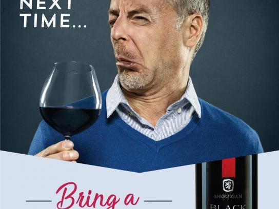 McGuigan Wines Print Ad - Awkward Moments, 1
