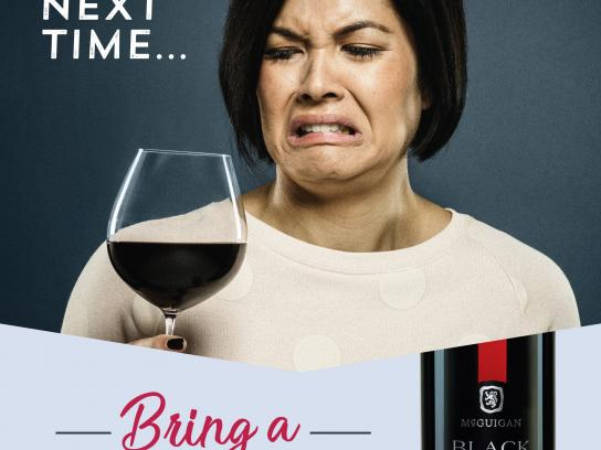 McGuigan Wines Print Ad - Awkward Moments, 2