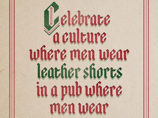 McGuinness Irish Pub Outdoor Ad -  Leather Shorts