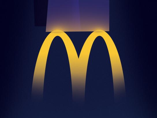 McDonald's Print Ad - McLights - Car