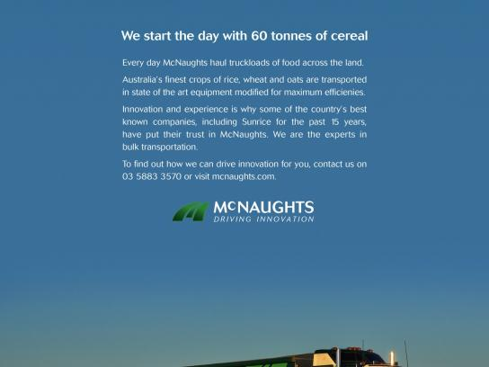 Mc Naughts Print Ad -  Cereal