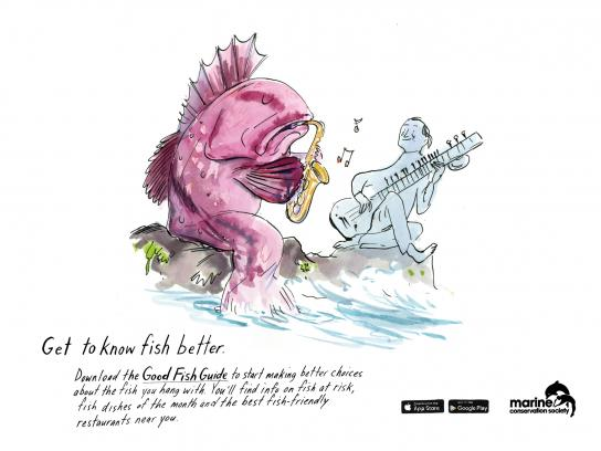Marine Conservation Society Print Ad -  Get to know fish better, 5