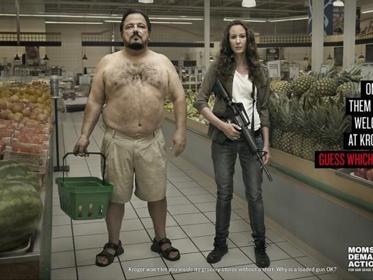 Moms Demand Action For Gun Sense In America Print Ad -  Shirtless