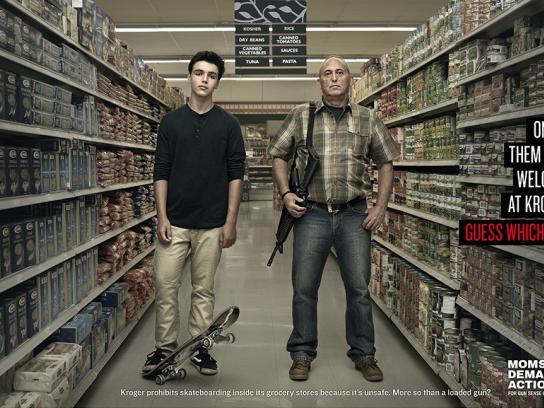Moms Demand Action For Gun Sense In America Print Ad -  Skateboard