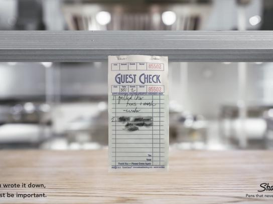Sharpie Print Ad - Guest Check