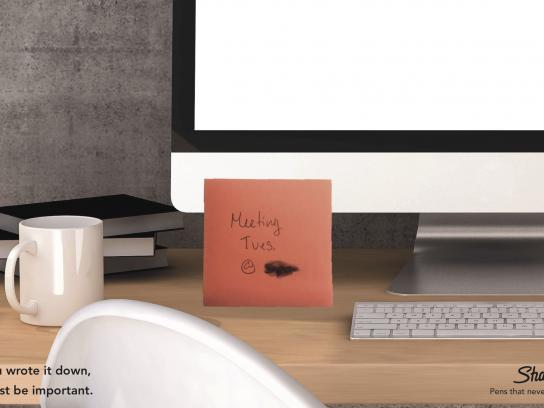 Sharpie Print Ad - Meeting Reminder