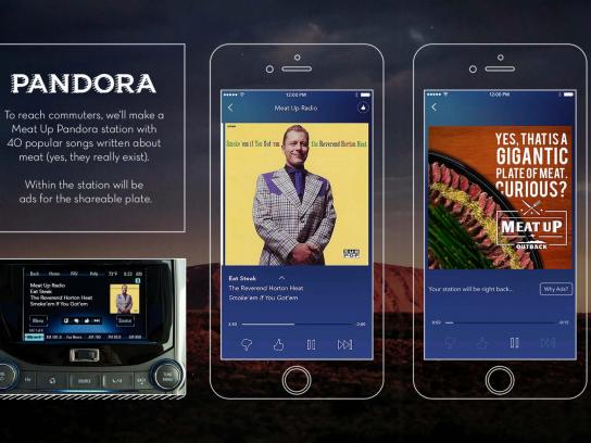 Outback SteakHouse Digital Ad - Meat Pandora