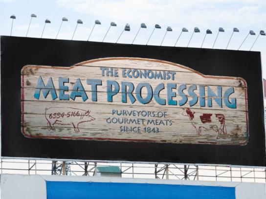 The Economist Outdoor Ad -  Signs, Meat Processing