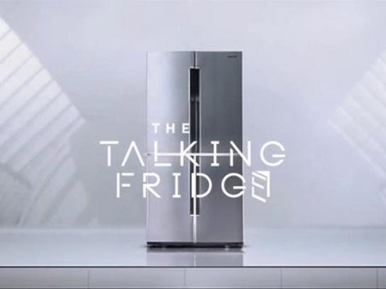Samsung Ambient Ad -  The talking fridge