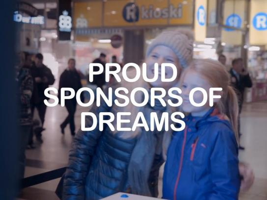 Plan Finland Ambient Ad -  Proud Sponsors of Dreams