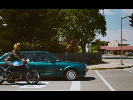 Halls Film Ad -  Biker