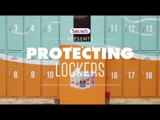 Simond's Ambient Ad -  Protecting Lockers