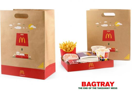 McDonald's Direct Ad -  Bag tray