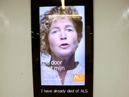 ALS Outdoor Ad -  Dead talking