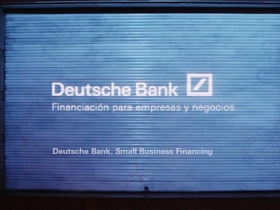 Deutsche Bank Outdoor Ad -  The ideas projector