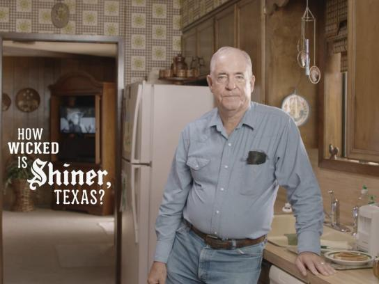 Shiner Beer Film Ad -  Leaf blower