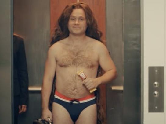 Oh Henry! Film Ad - Long hair speedo