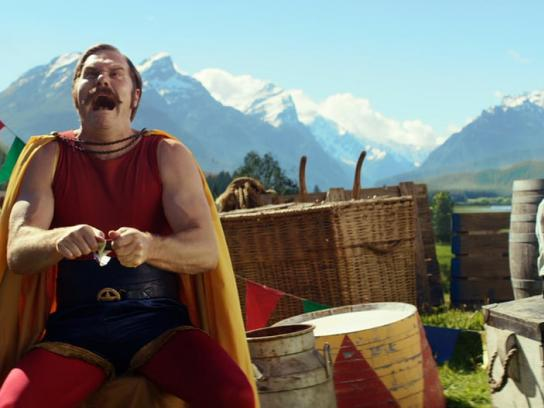 Milka Film Ad -  The Strongman