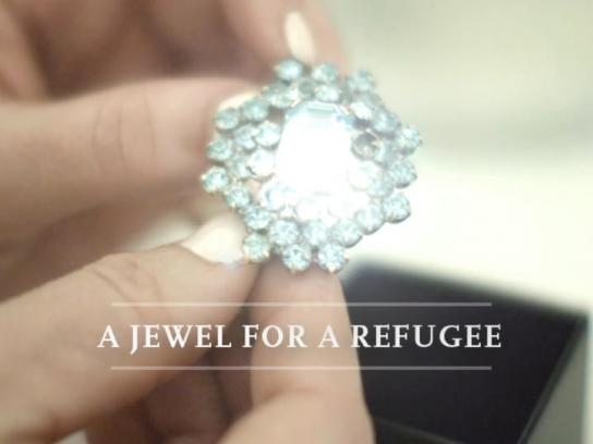 The Norwegian Organisation for Asylum Seekers Ambient Ad -  A jewel for a refugee