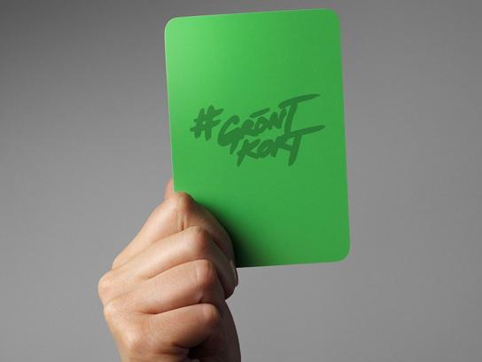 FC Rosengård Ambient Ad - Green Card