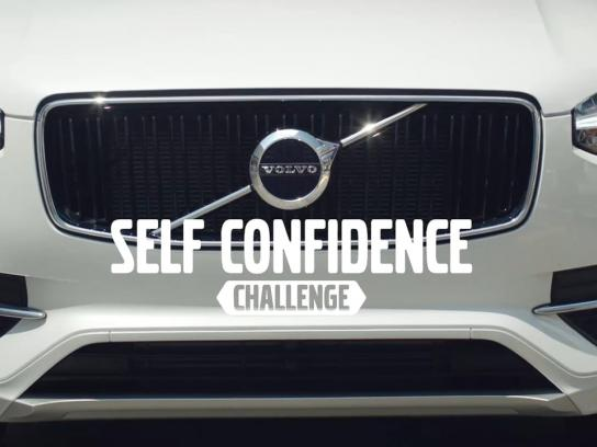 Volvo Ambient Ad - Self Confidence Challenge