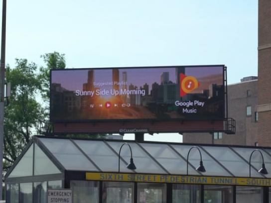 Google Outdoor Ad - Google Play Music