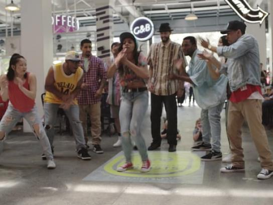 Ford Theatres Ambient Ad - Pop-up performance by Versa Style