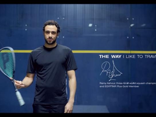 Egyptair Film Ad - Ramy Ashour trick shots