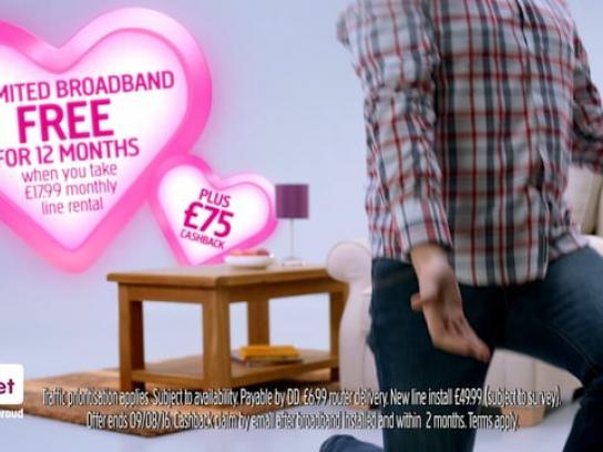 Plusnet Film Ad - Lost skip button