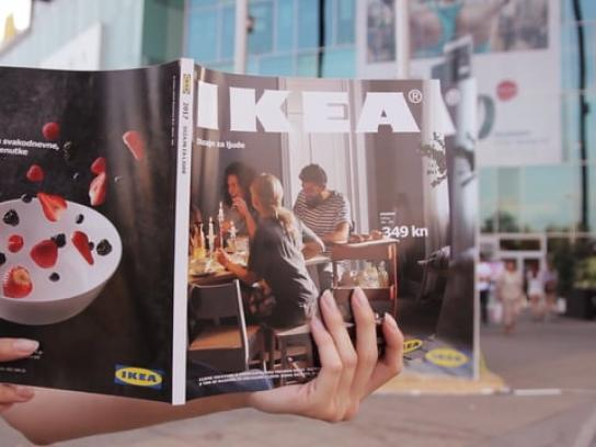 IKEA Outdoor Ad - Catalogue launch