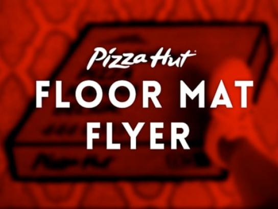 Pizza Hut Ambient Ad - Floor mat flyer