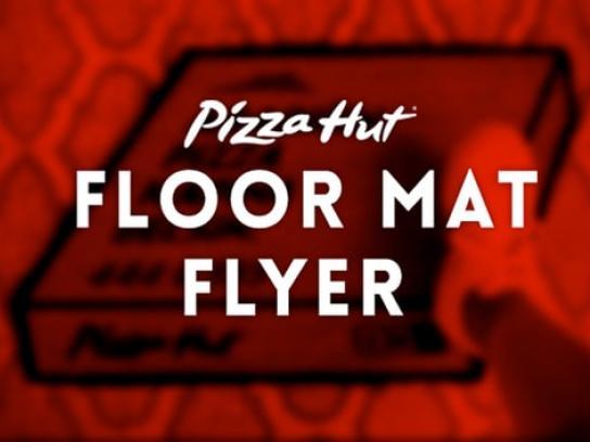 Pizza Hut Ambient Ad - Floor mat flyer