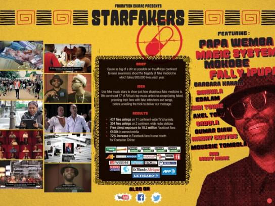 Fondation Chirac Content Ad - Starfakers