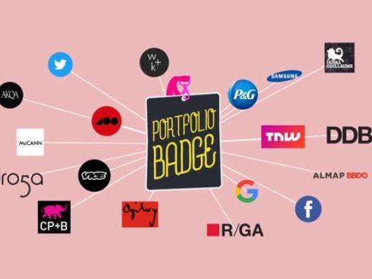 Adobe Ambient Ad - Adobe Portfolio Badge