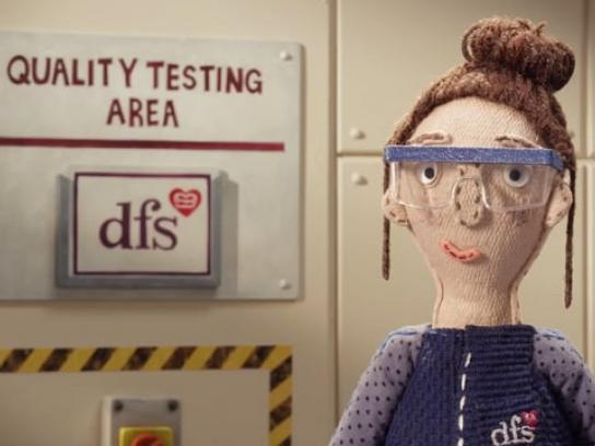 DFS Film Ad - The big sofa test